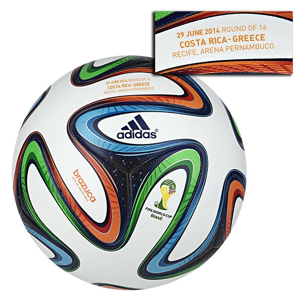 adidas Brazuca 2014 FIFA World Cup Official Match-Specific Ball (Costa Rica-Greece)