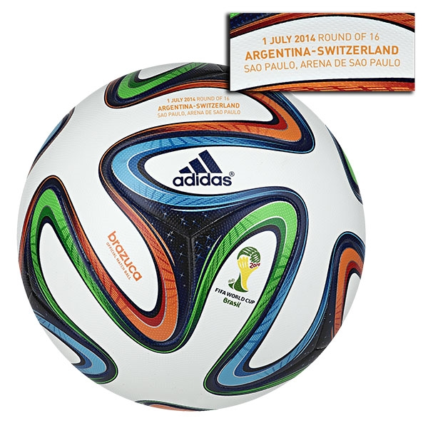 adidas Brazuca 2014 FIFA World Cup Official Match-Specific Ball (Argentina-Switzerland)