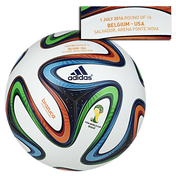 adidas Brazuca 2014 FIFA World Cup Official Match-Specific Ball (Belgium-USA)