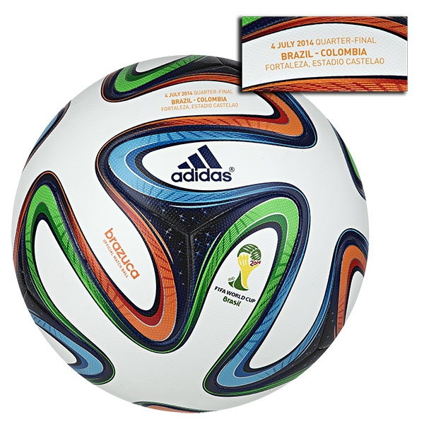 adidas Brazuca 2014 FIFA World Cup Official Match-Specific Ball (Brazil-Colombia)