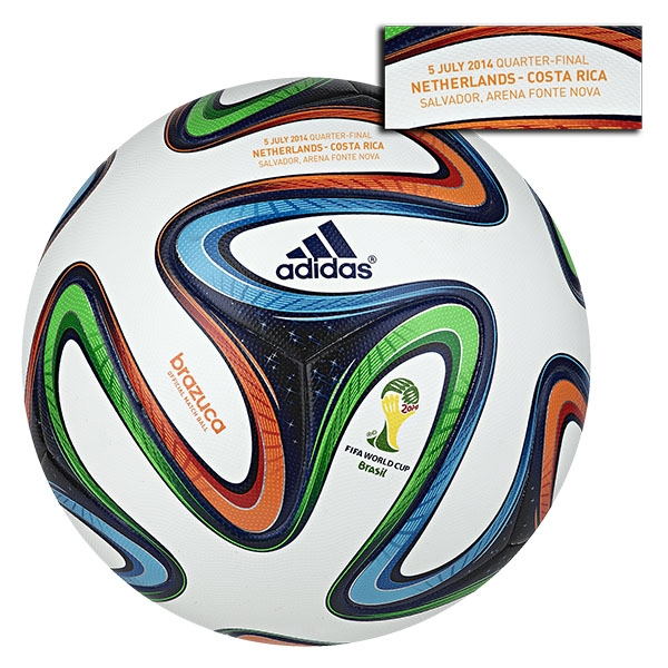 adidas Brazuca 2014 FIFA World Cup Official Match-Specific Ball (Netherlands-Costa Rica)
