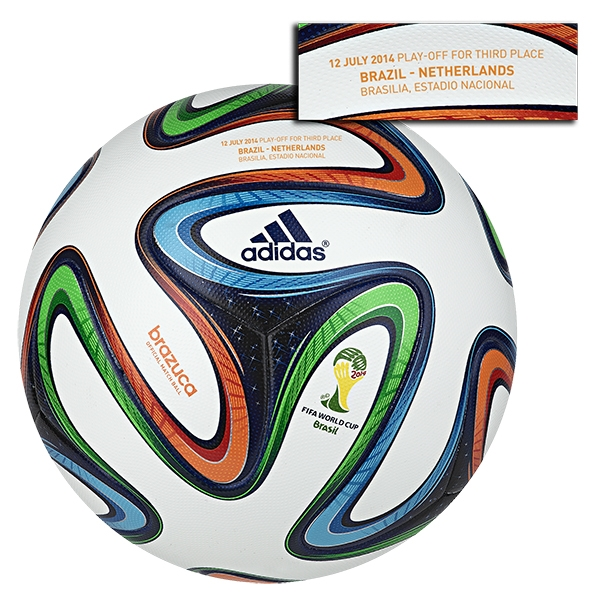 adidas Brazuca 2014 FIFA World Cup Official Match-Specific Ball (Brazil-Netherlands)