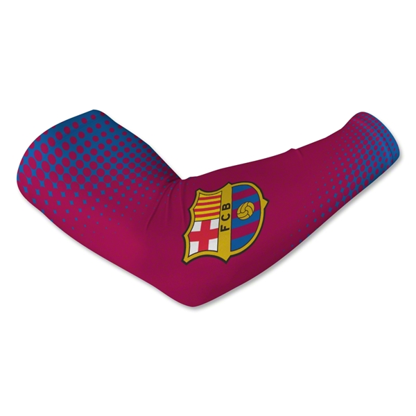 Barcelona Crest Arm Sleeve-Red (Pair)