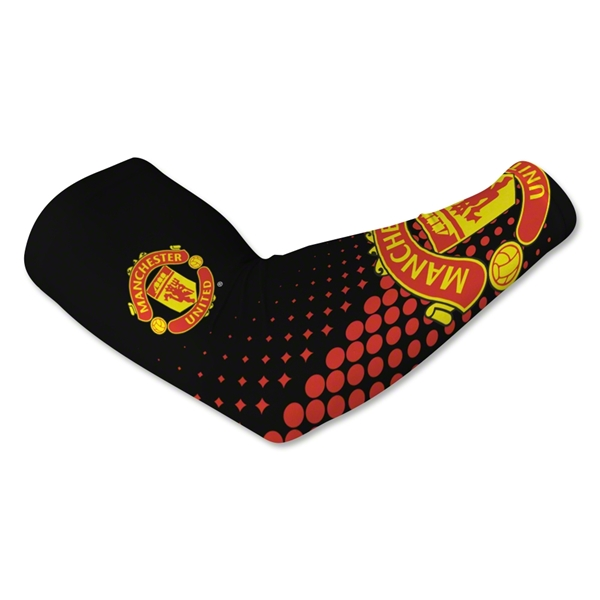 Manchester United Crest Arm Sleeves-Black