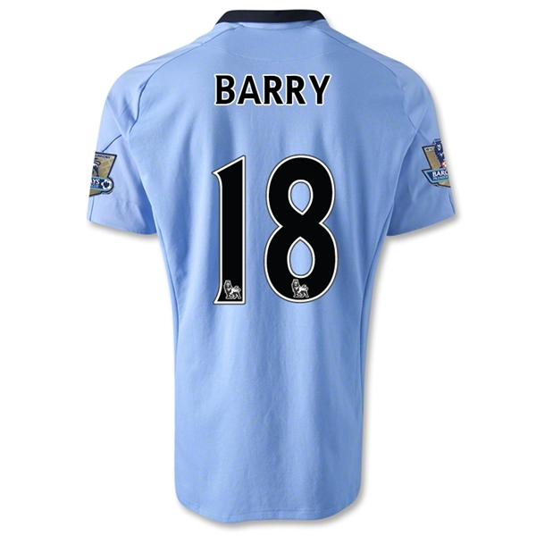 Manchester City 12/13 BARRY Home Soccer Jersey