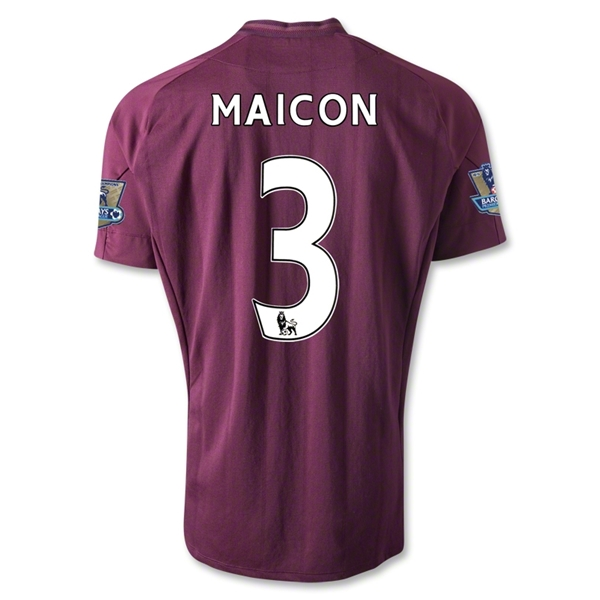Manchester City 12/13 MAICON Away Soccer Jersey