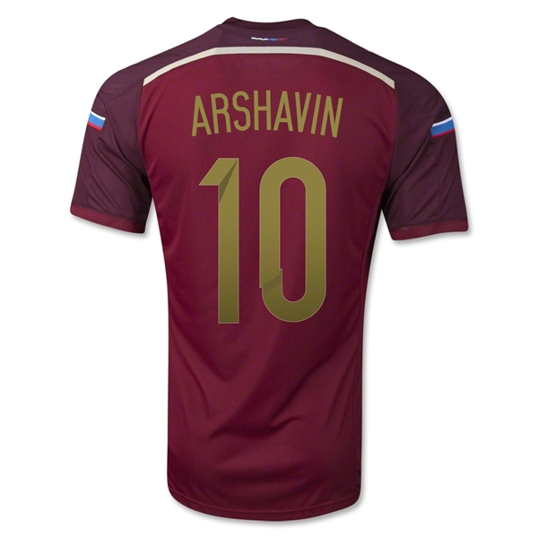 Russia 2014 ARSHAVIN Authentic Home Soccer Jersey