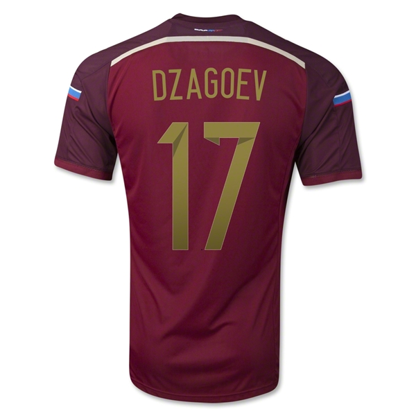 Russia 2014 DZAGOEV Authentic Home Soccer Jersey