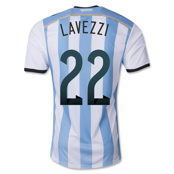 Argentina 2014 LAVEZZI Authentic Home Soccer Jersey