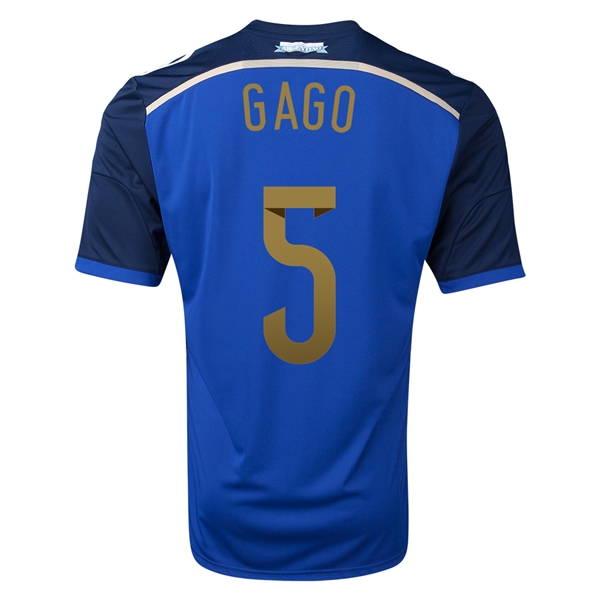 Argentina 2014 GAGO Away Soccer Jersey
