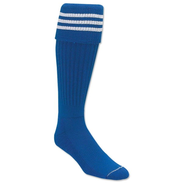 3 Stripe Padded Socks (Royal/White)