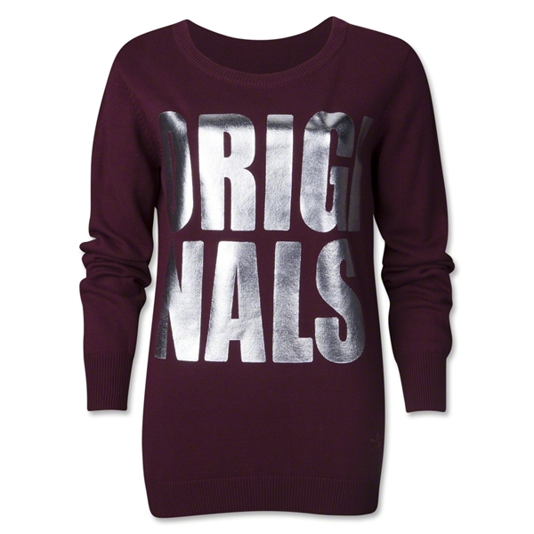 adidas Originals Women's Knit Sweater (Maroon)