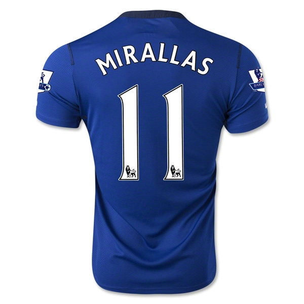 Everton 14/15 MIRALLAS Home Soccer Jersey