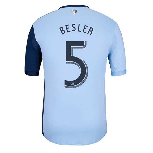 Sporting KC 2013 BESLER Authentic Primary Soccer Jersey