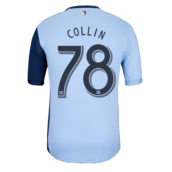 Sporting KC 2013 COLLIN Authentic Primary Soccer Jersey