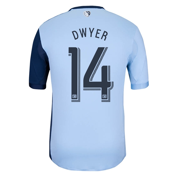 Sporting KC 2014 DWYER Authentic Primary Soccer Jersey