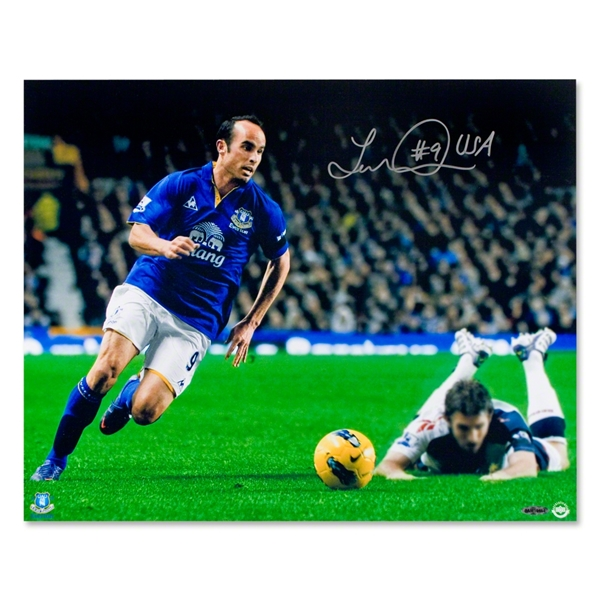 Landon Donovan Autographed Everton Focused