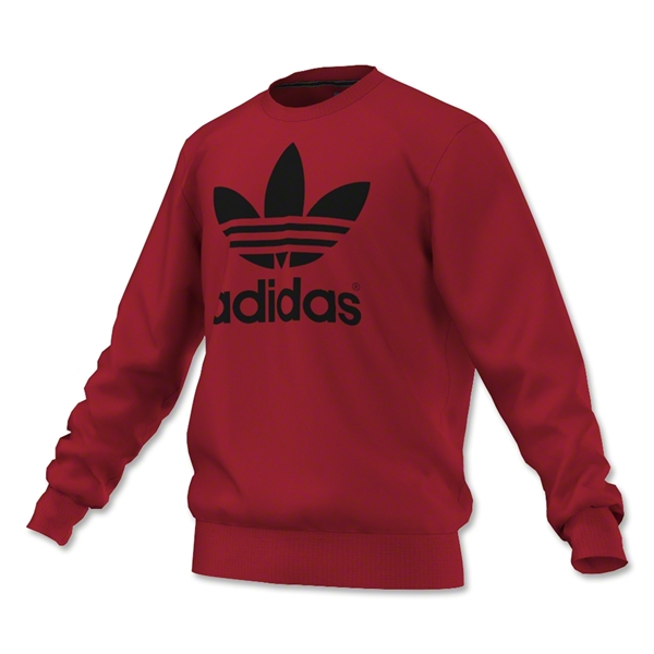 adidas Originals Mirror Trefoil Logo Crew (Red/Black)