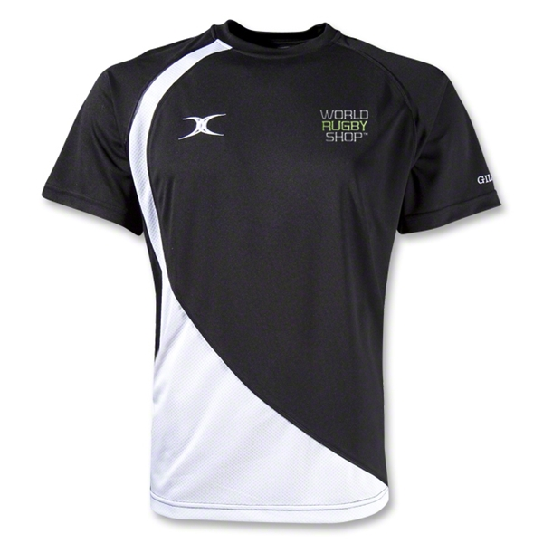 Gilbert World Rugby Shop Pro V2 Performance T-Shirt (Black/White)