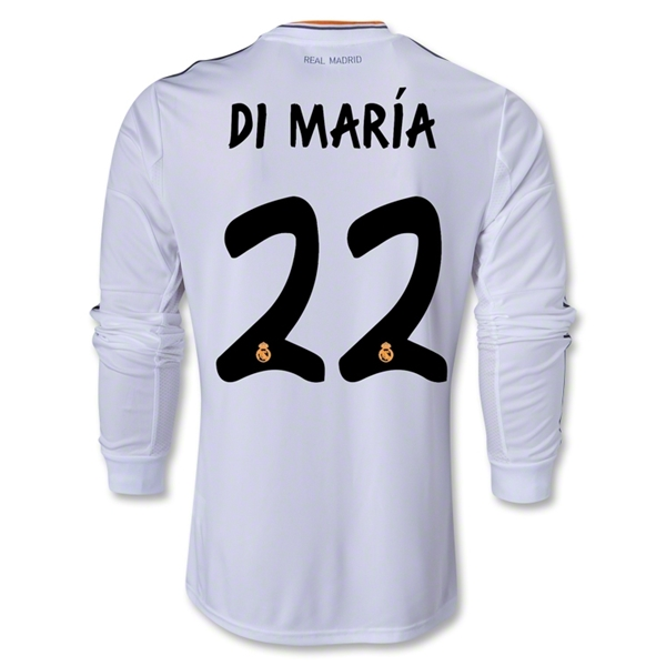 Read Madrid 13/14 DI MARIA LS Home Soccer Jersey