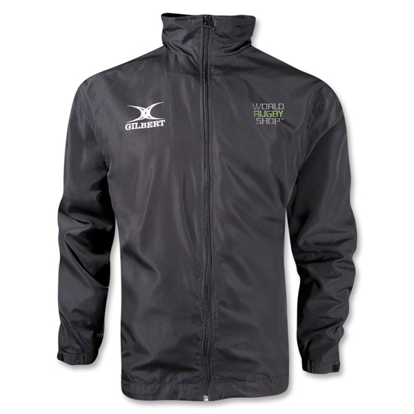 Gilbert World Rugby Shop Full Zip Rain Jacket (Black)