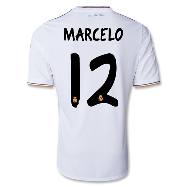 Real Madrid 13/14 MARCELO UCL Home Soccer Jersey