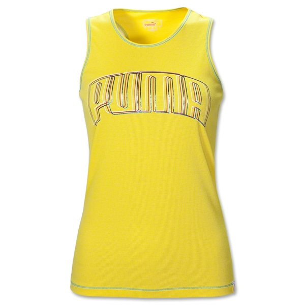 PUMA Women's Performance Racerback Tank (Yellow)