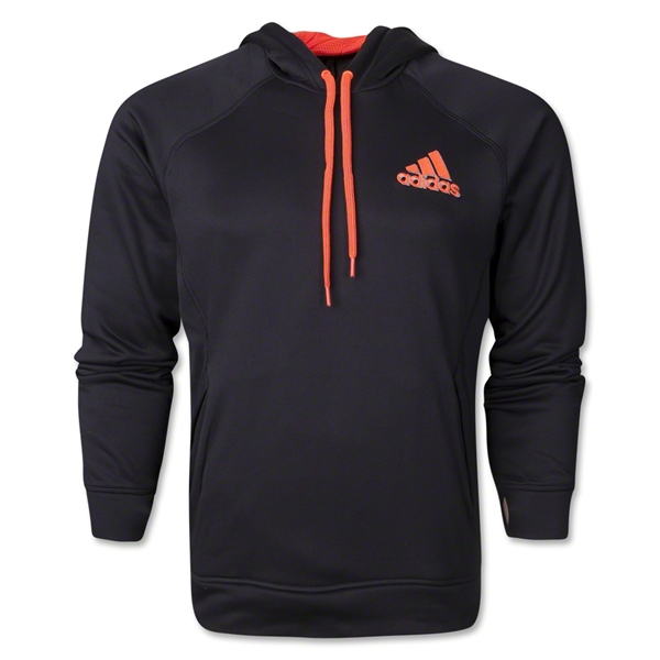 adidas Ultimate Fleece Pullover Hoody (Black/Red)