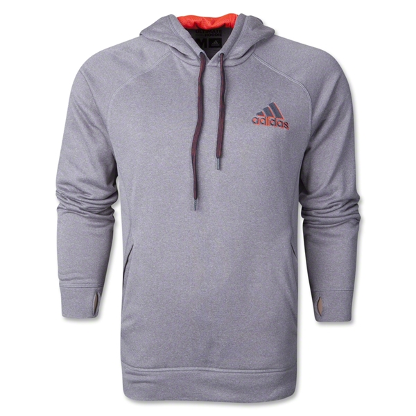 adidas Ultimate Fleece Pullover Hoody (Gray)
