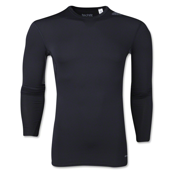 adidas Base TechFit Compression Long Sleeve T-Shirt (Black)