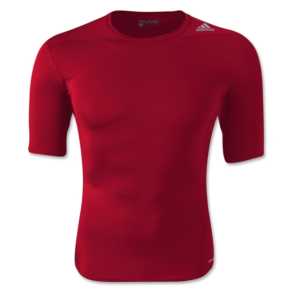 adidas Base TechFit T-Shirt (Red)