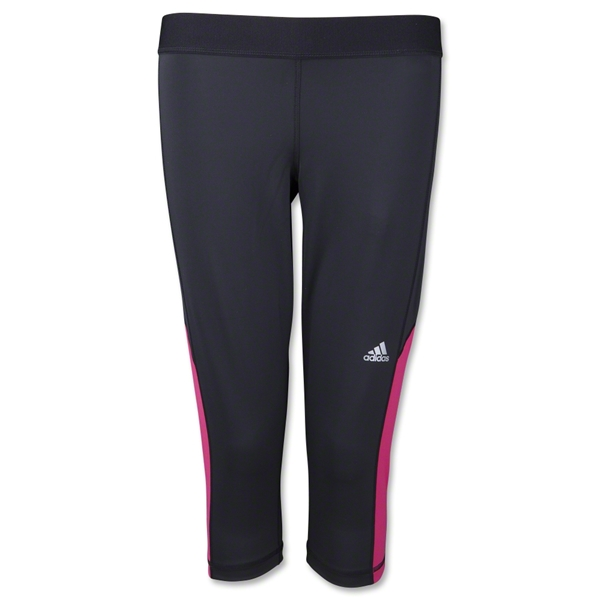 adidas Women's TechFit Capri Tight (Black/Pink)