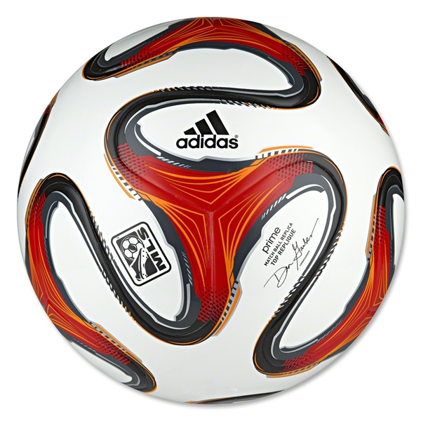adidas 2014 MLS Top Replique Soccer Ball (White/Poppy/Solar Zest)