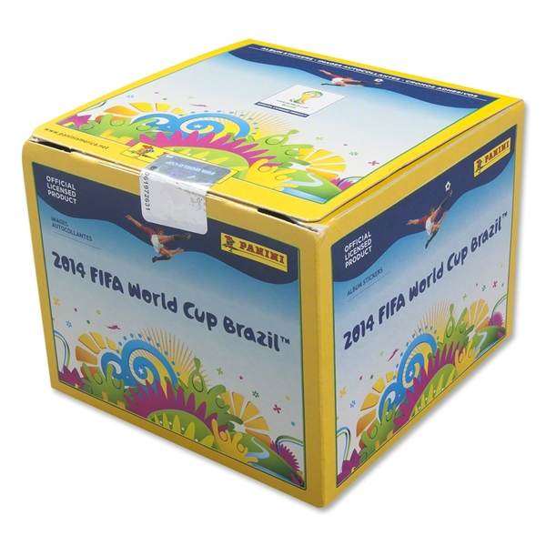 2014 FIFA World Cup Panini 50 Sticker Pack Box
