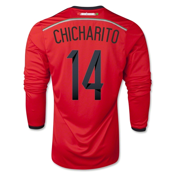 Mexico 2014 CHICHARITO LS Away Soccer Jersey