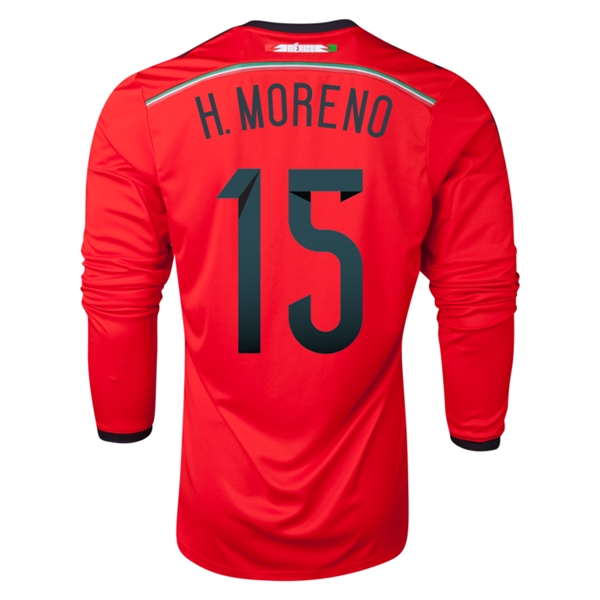 Mexico 2014 H MORENO LS Away Soccer Jersey