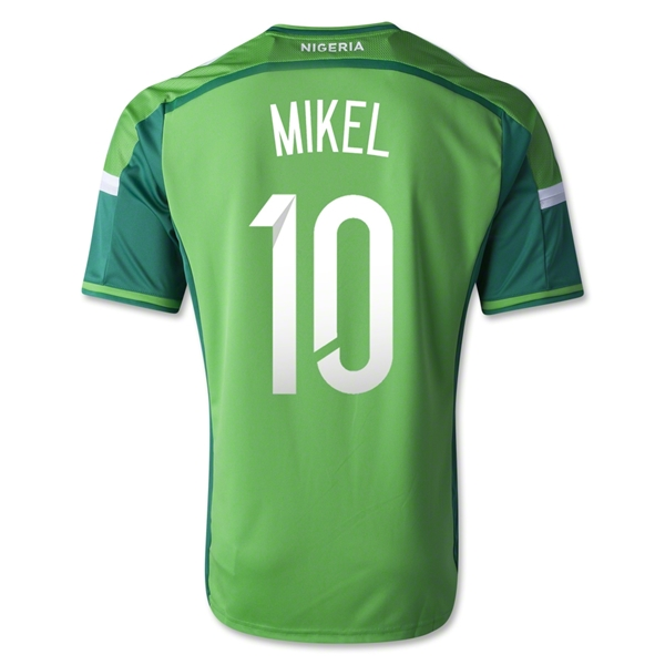 Nigeria 14/15 MIKEL Home Soccer Jersey