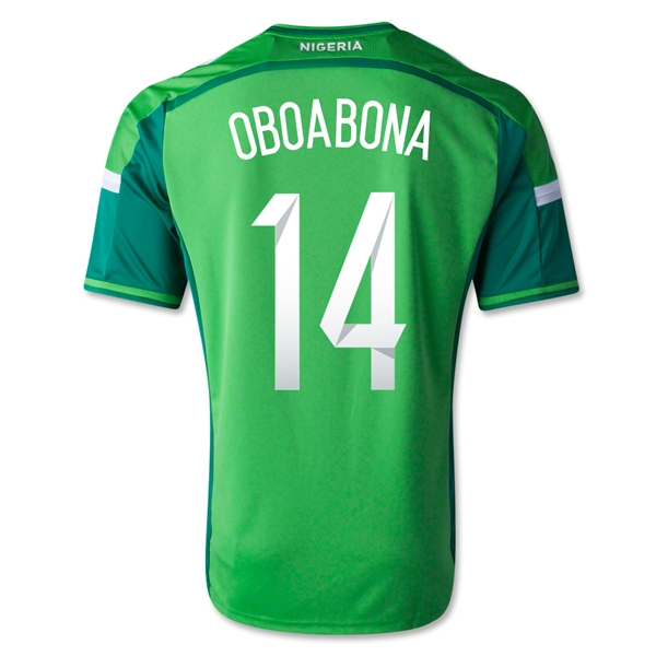 Nigeria 14/15 OBOABONA Home Soccer Jersey