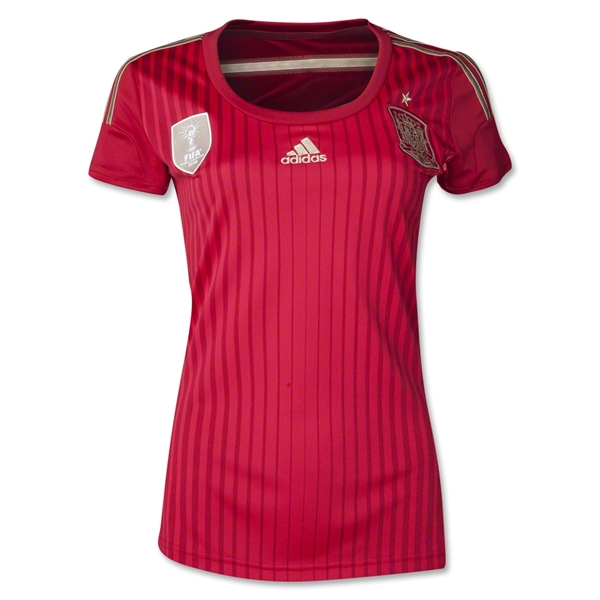 Spain 2014 Women's Home Soccer Jersey