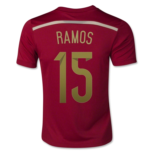 Spain 2014 RAMOS Youth Home Soccer Jersey
