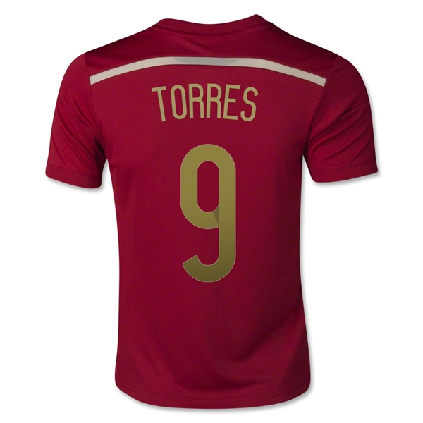 Spain 2014 TORRES Youth Home Soccer Jersey