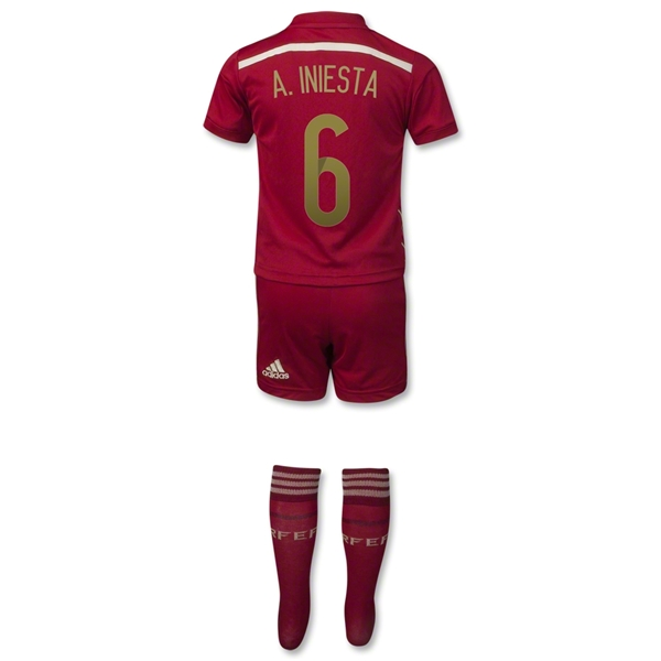 Spain 2014 A. INIESTA Home Mini Kit