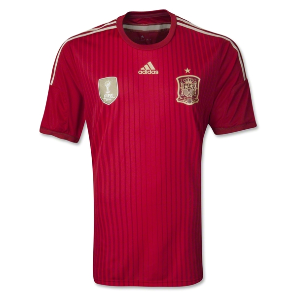 Spain 2014 Authentic Home Soccer Jersey