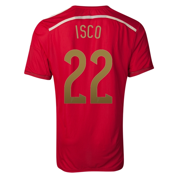 Spain 2014 ISCO Authentic Home Soccer Jersey