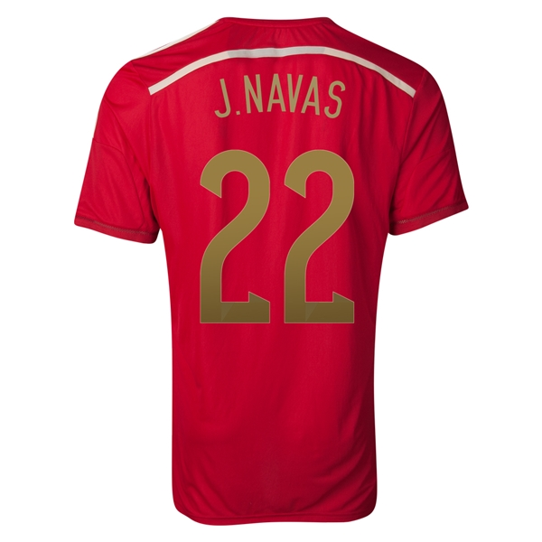 Spain 2014 J. NAVAS Authentic Home Soccer Jersey