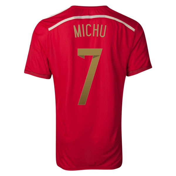 Spain 2014 MICHU Authentic Home Soccer Jersey