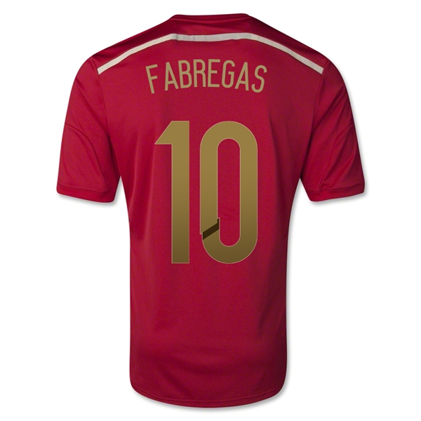 Spain 2014 FABREGAS Home Soccer Jersey