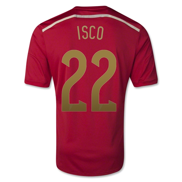 Spain 2014 ISCO Home Soccer Jersey