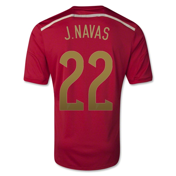 Spain 2014 J. NAVAS Home Soccer Jersey