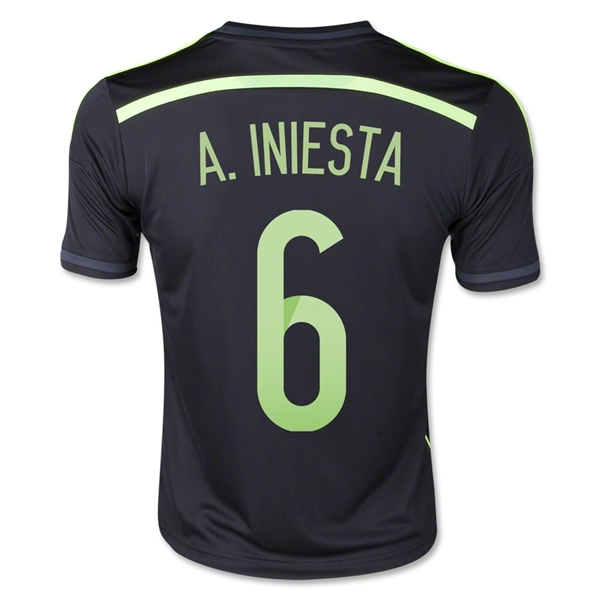 Spain 2014 A. INIESTA Youth Away Soccer Jersey